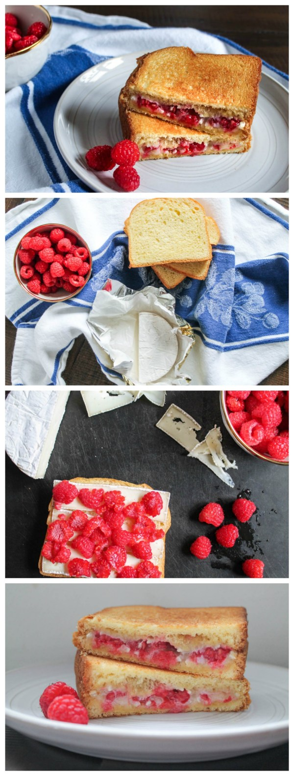 Raspberry Brie Grilled Cheese Collage