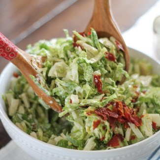 Brussels Sprout and Apple Salad with Crispy Prosciutto