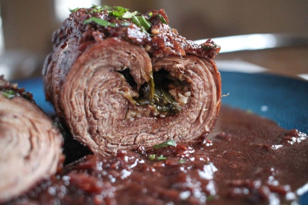 Recipe for Braciole with Red Wine Sauce-6