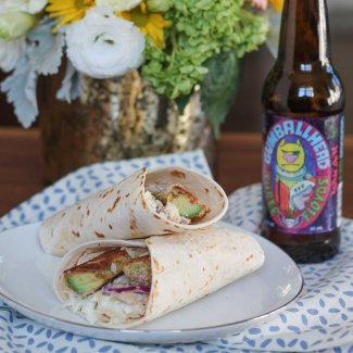 Chicken and Fried Avocado Wrap