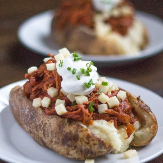 Pulled Pork Loaded Baked Potatoes