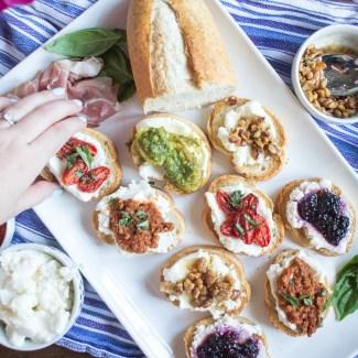 Ricotta Toast Five Ways