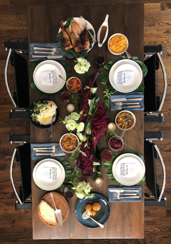 an exotic thanksgiving table