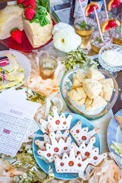 How to host a Royal Wedding Watch Party - the menu, the cocktails, and Royal Wedding Bingo cards!