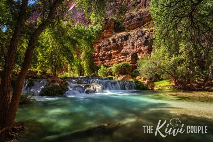 The picturesque walk from the Havasupai campsite to Beaver Falls