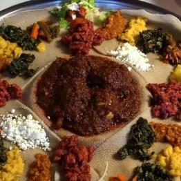 Doro Wat on Injera - Ethiopia