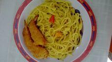 Salted Egg Spaghetti with Ebi Furai