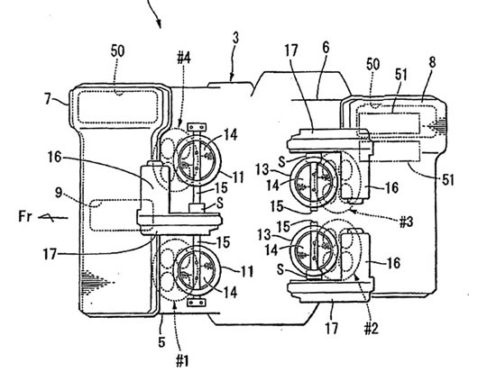 Honda V4 Engine with Unequal Cylinder Spacing and Cylinder