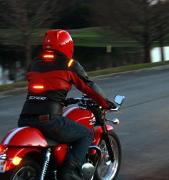impulse jackets have their own brake lights and turn signals that wirelessly connect to your existing [ 1200 x 800 Pixel ]