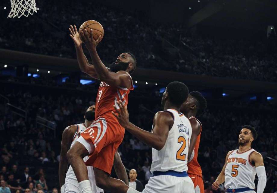 Knicks Face the Best of the West, Harden and the Rockets