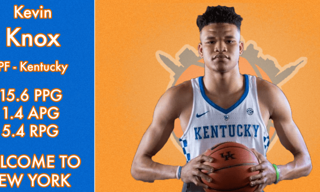 With the 9th Pick in the 2018 NBA Draft, the Knicks Select Kevin Knox