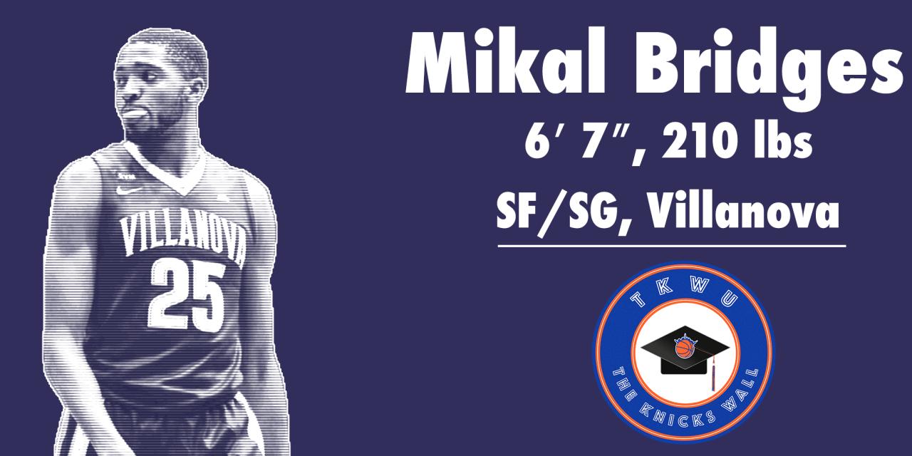 TKW U: Mikal Bridges Knicks Breakdown