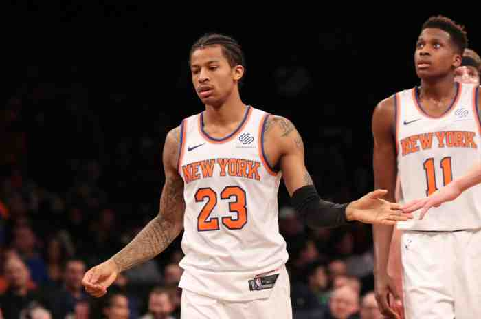 Fizdale Names Starting Lineup, Will Feature Both Burke and Ntilikina
