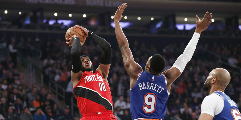 Knicks Try to Rebound With Blazers Meeting