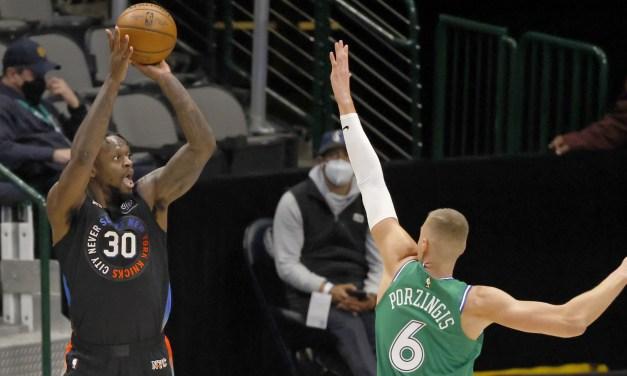 Knicks Fend Off Mavericks to Win Fifth-Straight Game