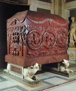 The porphyry sarcophagus of Constantina, the eldest daughter of Constantine the Great, 330–360 AD