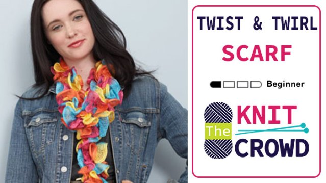 Knit Mesh Yarn: Twist and Twirl Scarf