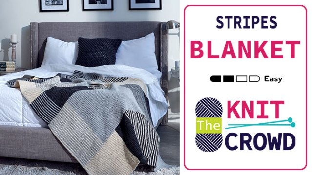 Knit Essential Stripes Blanket
