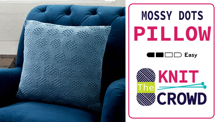 Knit Mossy Dots Pillow