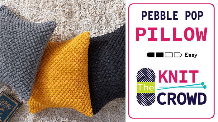 Knit Pebble Pop Pillows