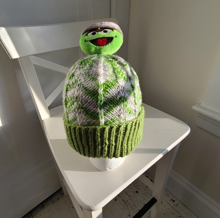 Grown Up Grouch: A Chevron Hat
