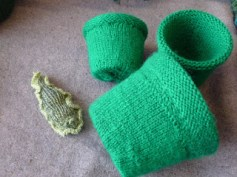 Knitted plant pots