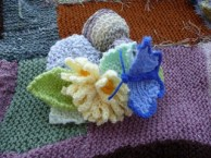 Knitted posy