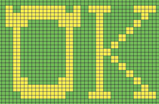 [OUTDATED] Oozma Kappa Logo (Knitting Charts)