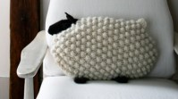 Knitted Bobble Sheep Pillows [FREE Knitting Pattern]
