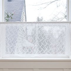 Cafe Curtains For Kitchen Revive Cabinets Knit Lace Café Curtain [free Knitting Pattern]