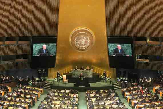 Donald Trump at UN General Assembly 72