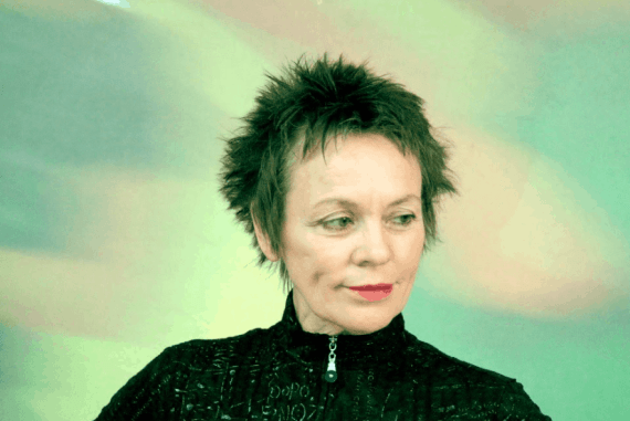 Laurie Anderson, recipient of The Order of Arts and Letters at French Embassy