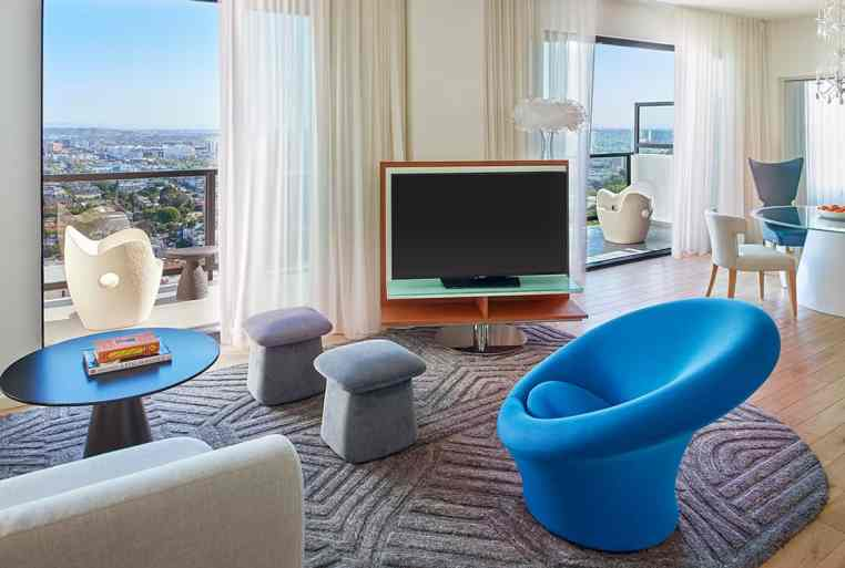 The Skyview Penthouse at Mondrian Los Angeles