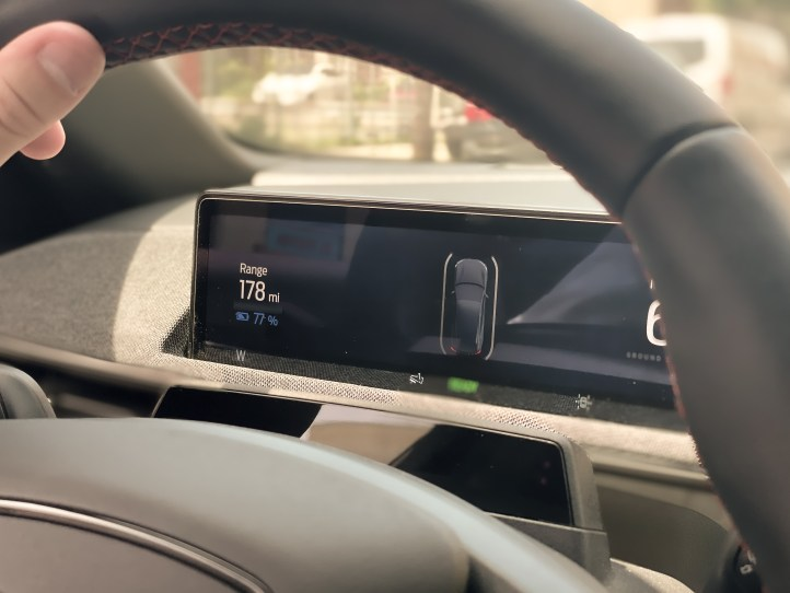 Driver's Display in the 2021 Ford Mustang Mach-E.