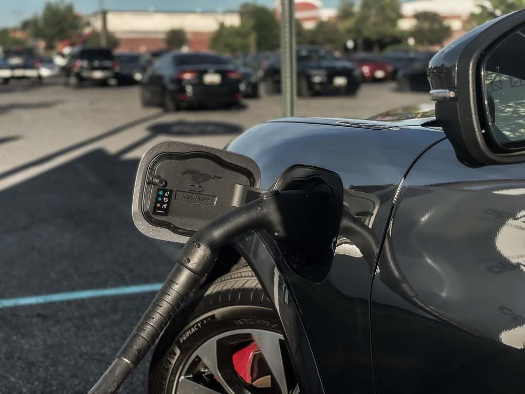 Charging port on the 2021 Ford Mustang Mach-E