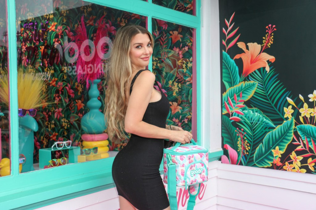 """Emily Sears showed off her fab figure at """"The Cabana"""" VIP Preview, goodr's (a Los Angeles-based sunglass brand) new experiential retail store on Abbot Kinney in Venice Beach, CA"""