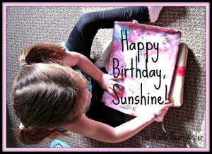 Happy 5th Birthday, Sunshine!