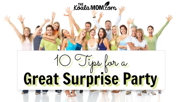 10 tips for a great surprise party