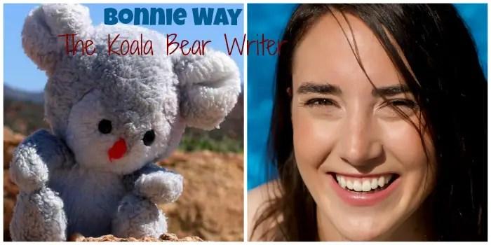 Bonnie Way and her mascot Koala Bear