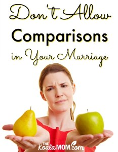 Don't Allow Comparisons in Your Marriage {31 Days to a Happy Husband}
