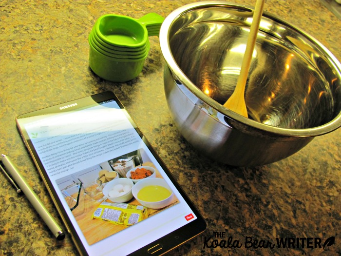 Baking with my Samsung Galaxy Tab S