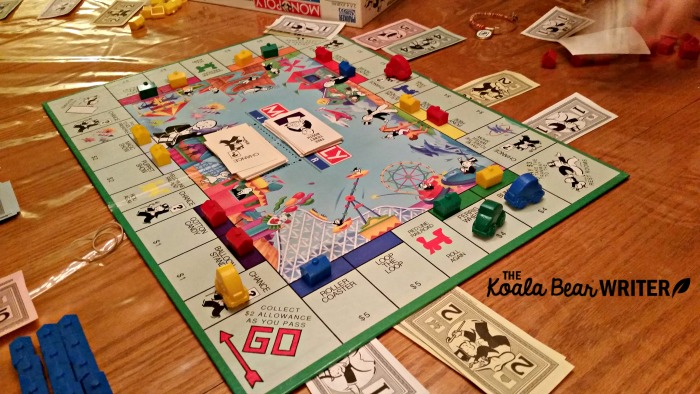 Playing Monopoly and other board games is one way we have fun in our homeschool.