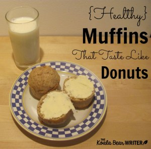 {Healthy} Muffins that Taste Like Donuts (Dairy-Free)