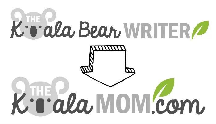 New logo for the Koala Mom blog