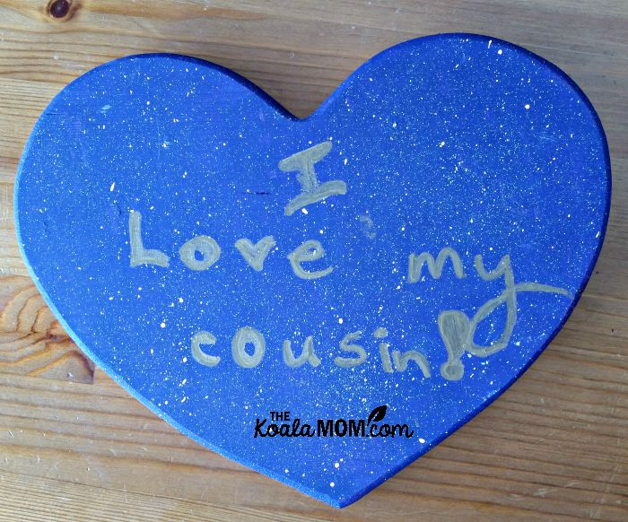 I love my cousin! purple heart plaque