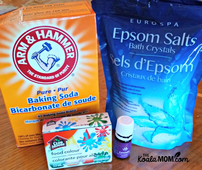 Lavendar bath salt supplies
