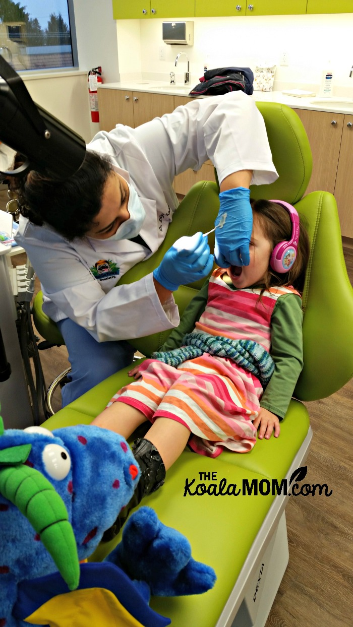 Jade at the dentist