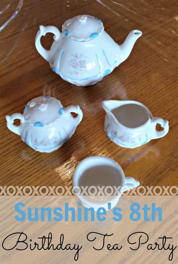 Sunshine's 8th birthday tea party