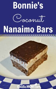 Bonnie's Coconut Nanaimo Bars