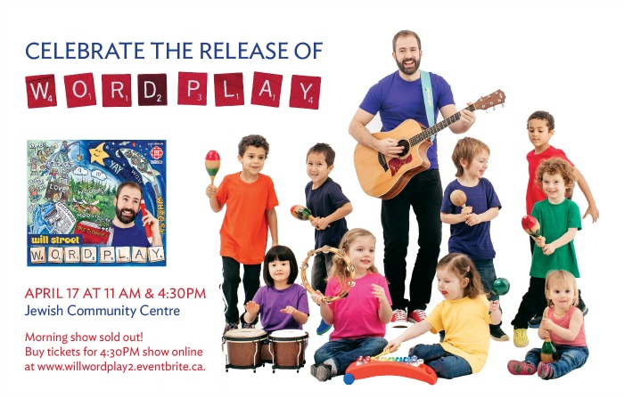 Will Stroet celebrates the release of his new CD Wordplay with a concert at the Jewish Community Centre in Vancouver on April 17